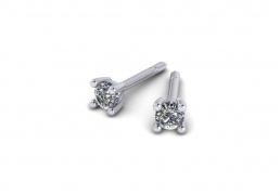 Pendientes oro blanco diamante joyería salamanca