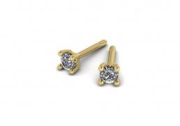 Pendientes oro amarillo diamante joyería salamanca