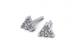 Pendientes oro blanco diamantes joyería salamanca