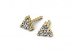 Pendientes oro amarillo diamantes joyería salamanca