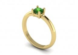 Solitario anillo sortija oro amarillo topacio verde joyería Salamanca