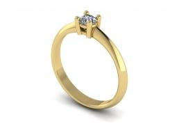 Solitario anillo sortija oro amarillo diamante joyería Salamanca