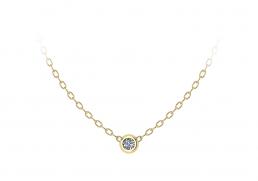 Colgante oro amarillo diamante joyería Salamanca