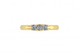 Anillo sortija oro amarillo diamantes joyería Salamanca