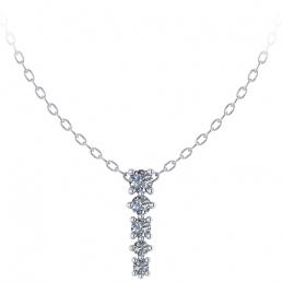 Colgante oro blanco diamantes joyería Salamanca