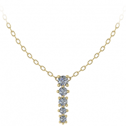 Colgante oro amarillo diamantes joyería Salamanca