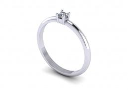 Solitario anillo sortija oro blanco diamante joyería Salamanca