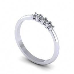 Anillo sortija oro blanco diamantes joyería Salamanca