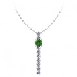 Colgante oro blanco diamantes topacio verde joyería Salamanca