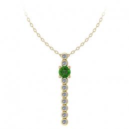 Colgante oro amarillo diamantes topacio verde joyería Salamanca