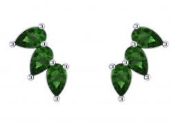 Pendientes oro blanco topacio verde joyería Salamanca