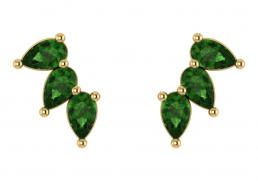 Pendientes oro amarillo topacio verde joyería Salamanca