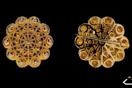 broche botón charro salamanca oro amarillo diamantes